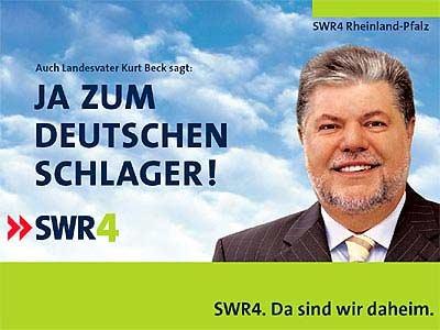 """Landesvater Kurt Beck sagt """"Ja�? zum Deutschen Schlager"""