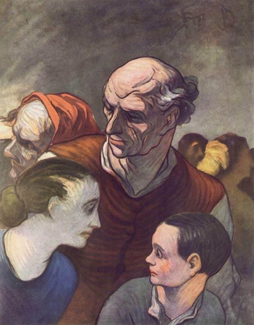Honoré Daumier: Familie auf der Barrikade